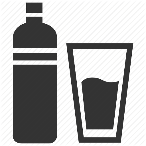 Bottle, Bottled Water, Complimentary, Drink, Glass, Water Icon