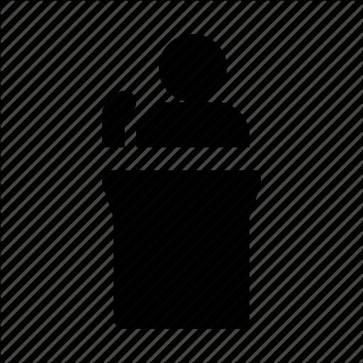 Facilitator, Keynote, Moderation, Presentation, Speaker Icon