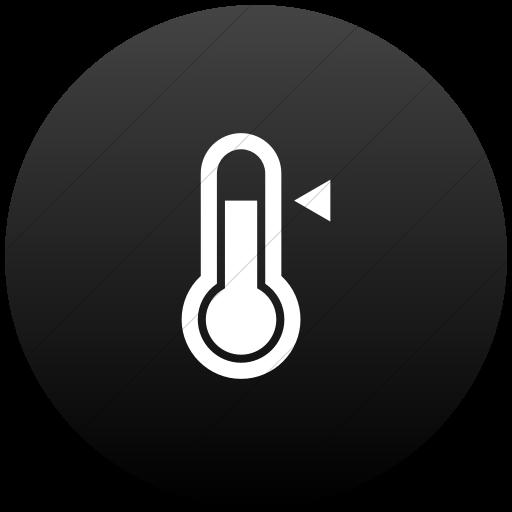 Flat Circle White On Black Gradient Raphael Thermometer