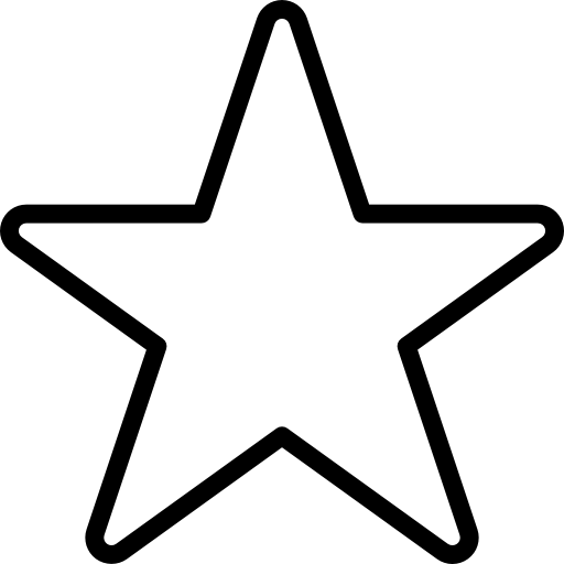 Star Outline Of Favourites Icons Free Download