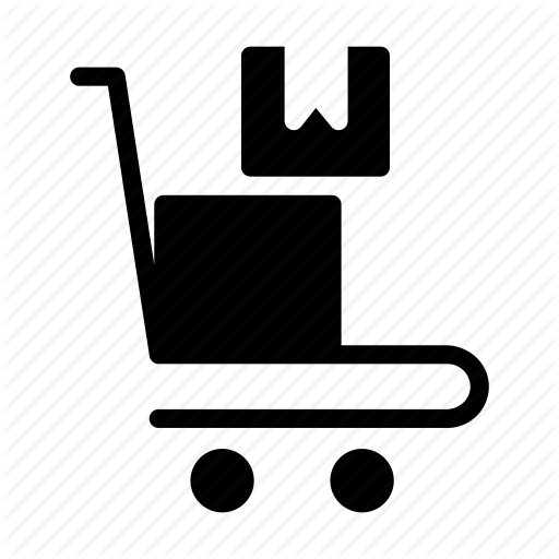 Courier, Delivery, Dolly, Packages, Parcel Icon