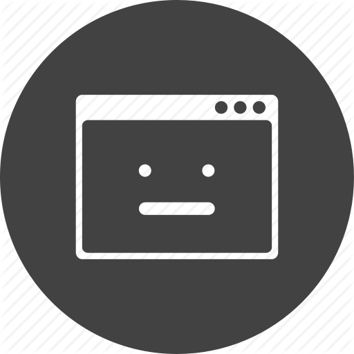Browser, Error, Layout, Noresponse, Smiley, Webpage, Window Icon