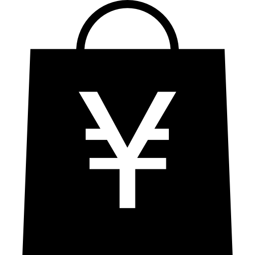 Shopping Bag With Yen Symbol Icons Free Download