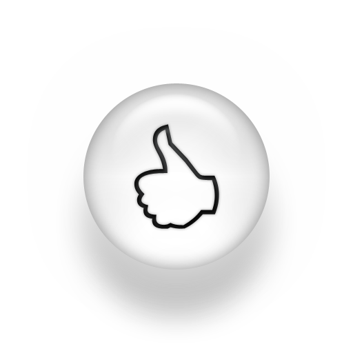 Black White Pearl Icon Business Thumbs