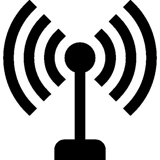 Antenne Avec Le Symbole De Lignes De Signaux Icons