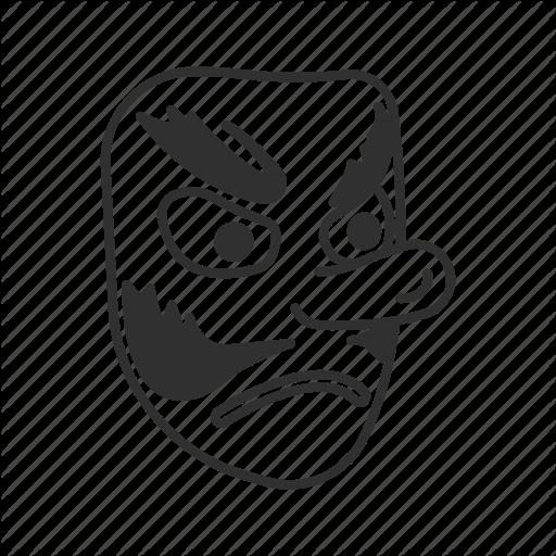 Angry Mask, Emoji, Japanese Goblin, Japanese Mask, Mask, Mustache