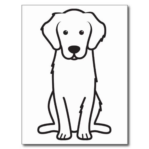 Golden Retriever Dog Cartoon Postcard Golden