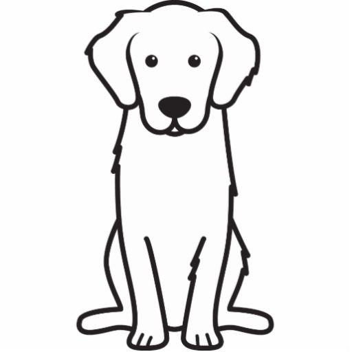 Golden Retriever Dog Cartoon Statuette Golden