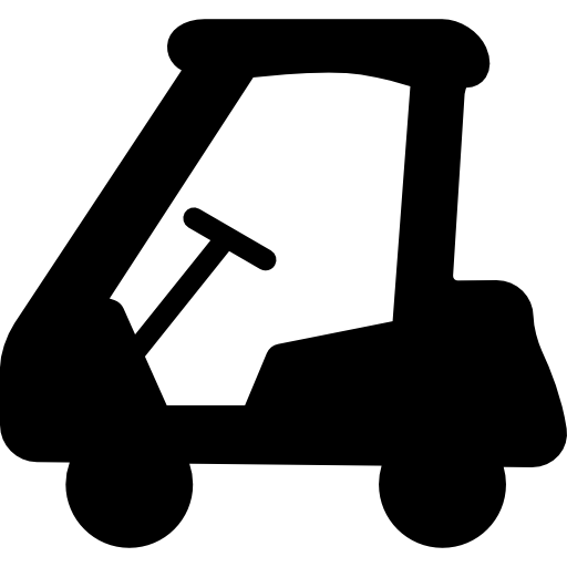 Golf Cart Side View Facing Left Icons Free Download