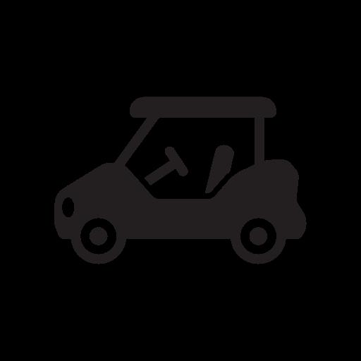 Car, Cart, Course, Gold, Golf, Golfer, Golfing Icon Free