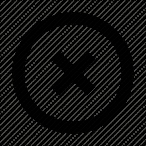 Circle Close Delete Exit Remove X Outline