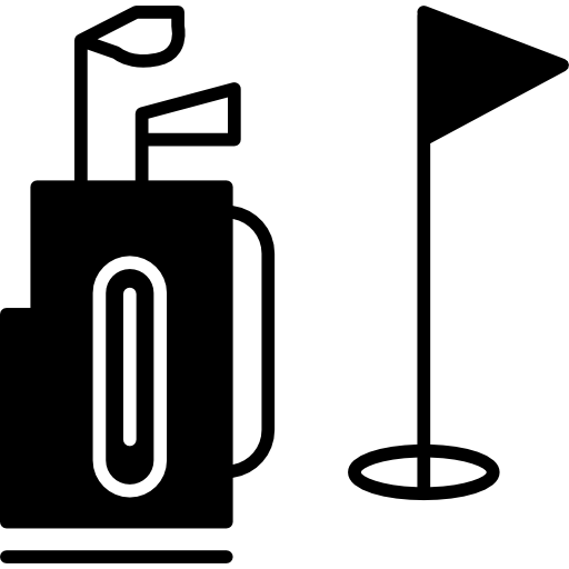 Golf Caddy And Flag Icons Free Download