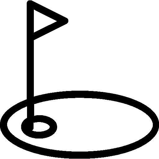 Hole, Flag, Green, Sports, Golf Icon