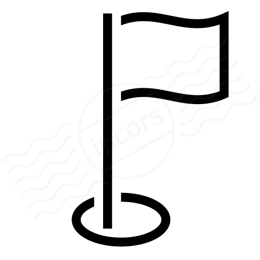 Iconexperience I Collection Golf Flag Icon