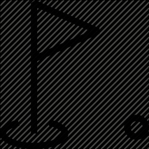 Flag, Golf, Marker, Milestone, Triangle Flag Icon