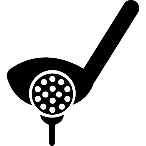 Golf Putter Ball And Tee Icons Free Download