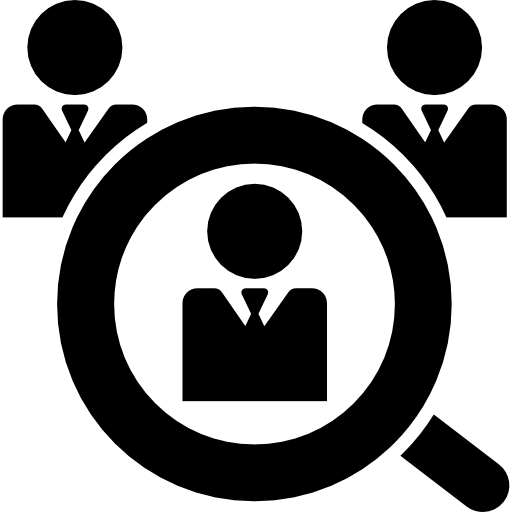 Male Job Search Symbol Icons Free Download