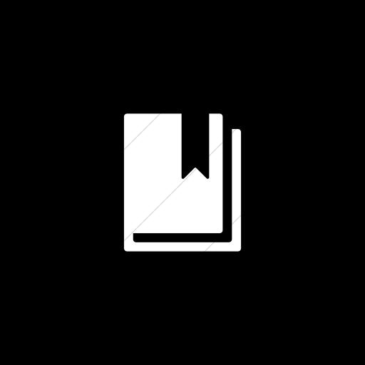 Flat Circle White On Black Foundation Book Bookmark Icon