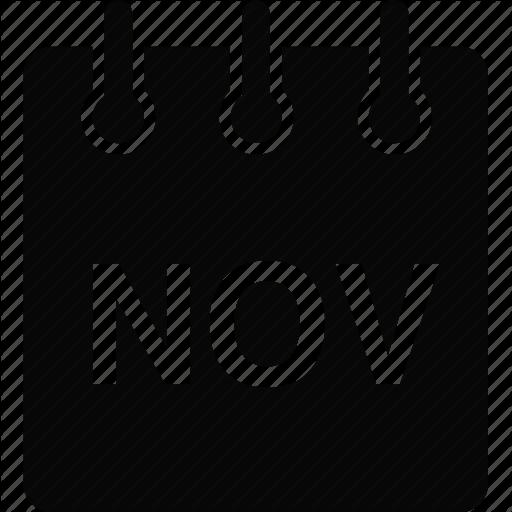 November Calendar Icon