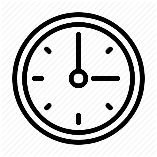 Clock, Office, Time, Wall Clock Icon