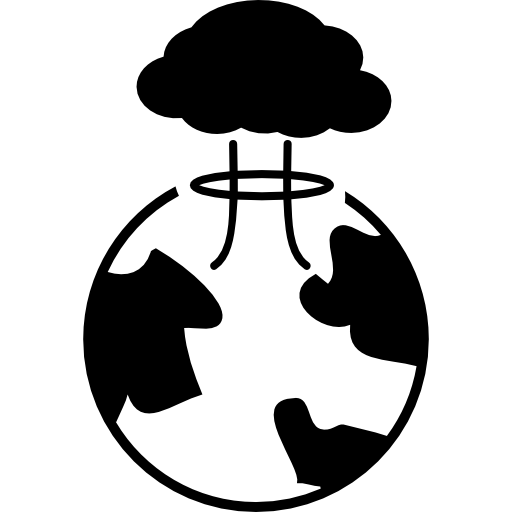 Bomb Exploding On Earth Icons Free Download