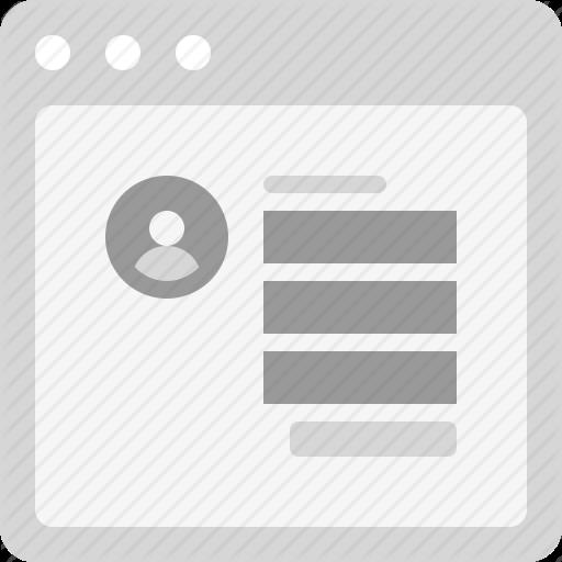 Edit Profile, Form, Register, Web Form Icon