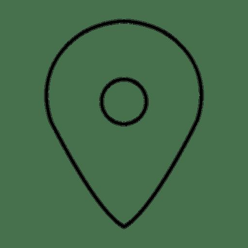 Location Stroke Icon