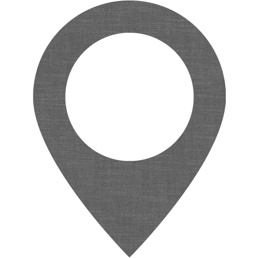 Grey Wall Map Marker Icon