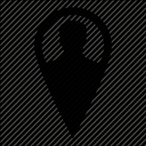 Location, Man, Map, Marker, User Icon