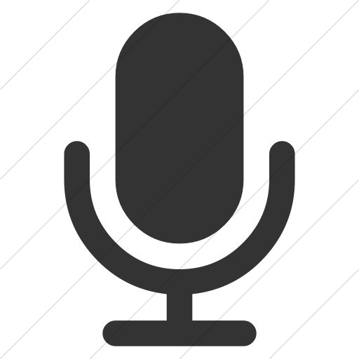 Simple Dark Gray Bootstrap Font Awesome Microphone Icon