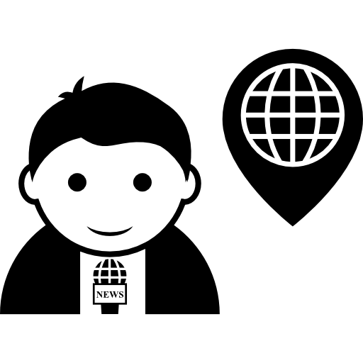Journalist Talking About World Places Icons Free Download