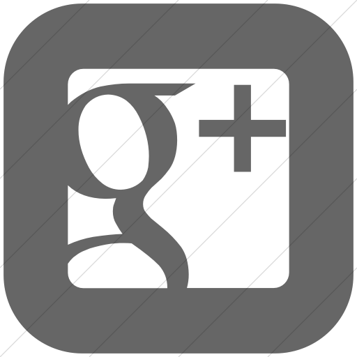 Flat Rounded Square White On Gray Raphael Google Plus Icon