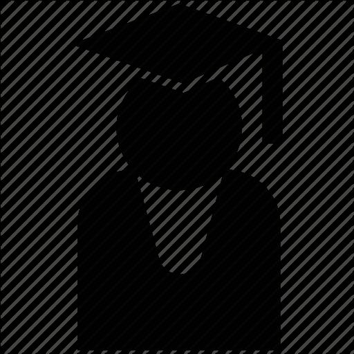 Graduate, Learner, Pupil, Scholar, Silhouette, Student Icon