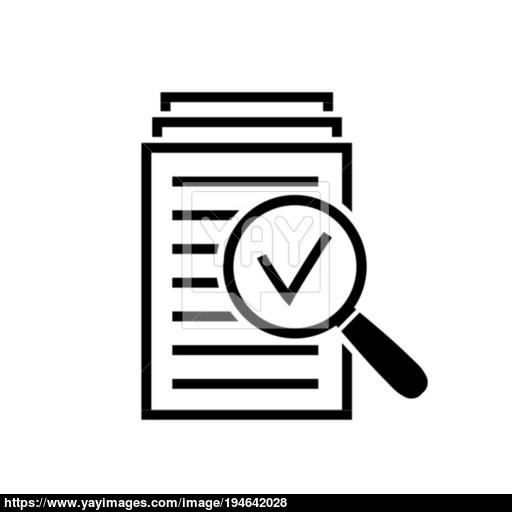 Magnifying Glass Icon, Search Documents Sign Vector