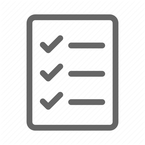 Checklist, Survey, Tasks Icon