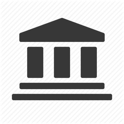 Bank, Courthouse, Crime, Government, Justice, Law, Raw, Simple Icon