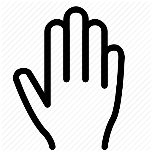 Fingers, Gesture, Grab, Hand, Stop, Touch Icon