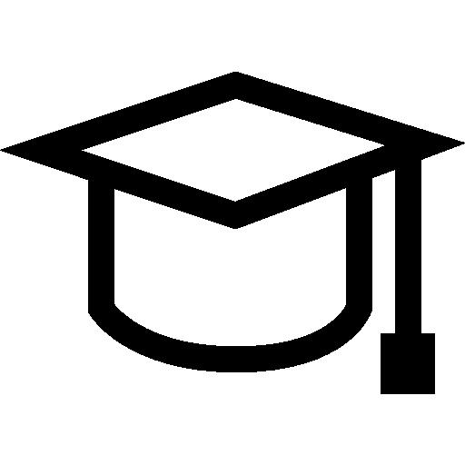 Graduation Cap Outline Icons Free Download