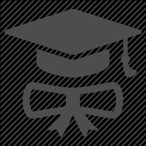 Degree, Diploma, Graduate, Graduation Cap, Hat Icon