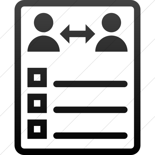 Simple Black Gradient Iconathon Peer Evaluation Icon
