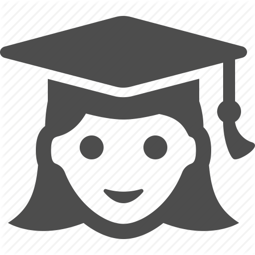 Education, Girl, Graduation Cap, Graduation Hat, School, Student Icon