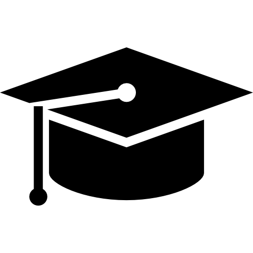 Graduation Black Hat Icons Free Download