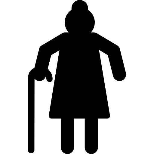 Grandmother Silhouette Icons Free Download