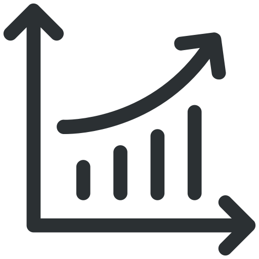 Bar Graph, Graph, Growth, Growth Graph, Line Graph Icon Icon