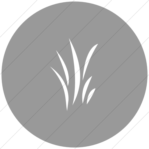 Flat Circle White On Light Gray Classica Grass Icon