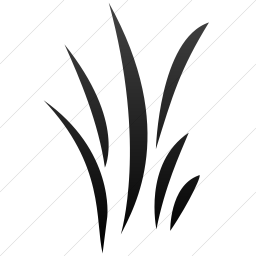 Simple Black Gradient Classica Grass Icon