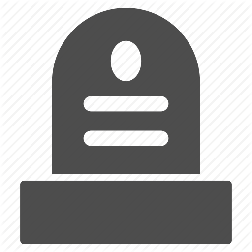 Cemetery, Dead, Death, Funeral, Grave, Tomb Stone, Tombstone Icon