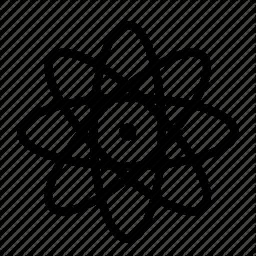 Atom, Gravity, Molecule, Nucleus, Proton, Research, Science Icon