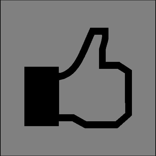 Gray Facebook Like Icon