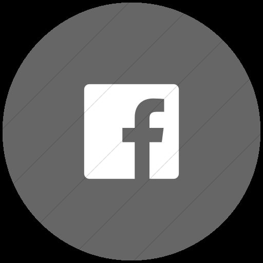 Flat Circle White On Gray Foundation Social Facebook Icon